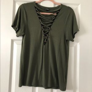 Express Lace-up T-shirt